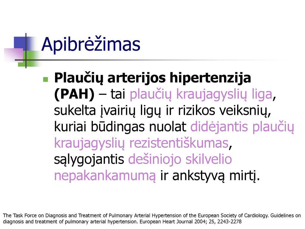Arterinė hipertenzija - tyli žudikė