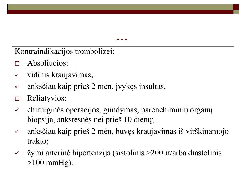 kraujavimo iš venų hipertenzijos rizika
