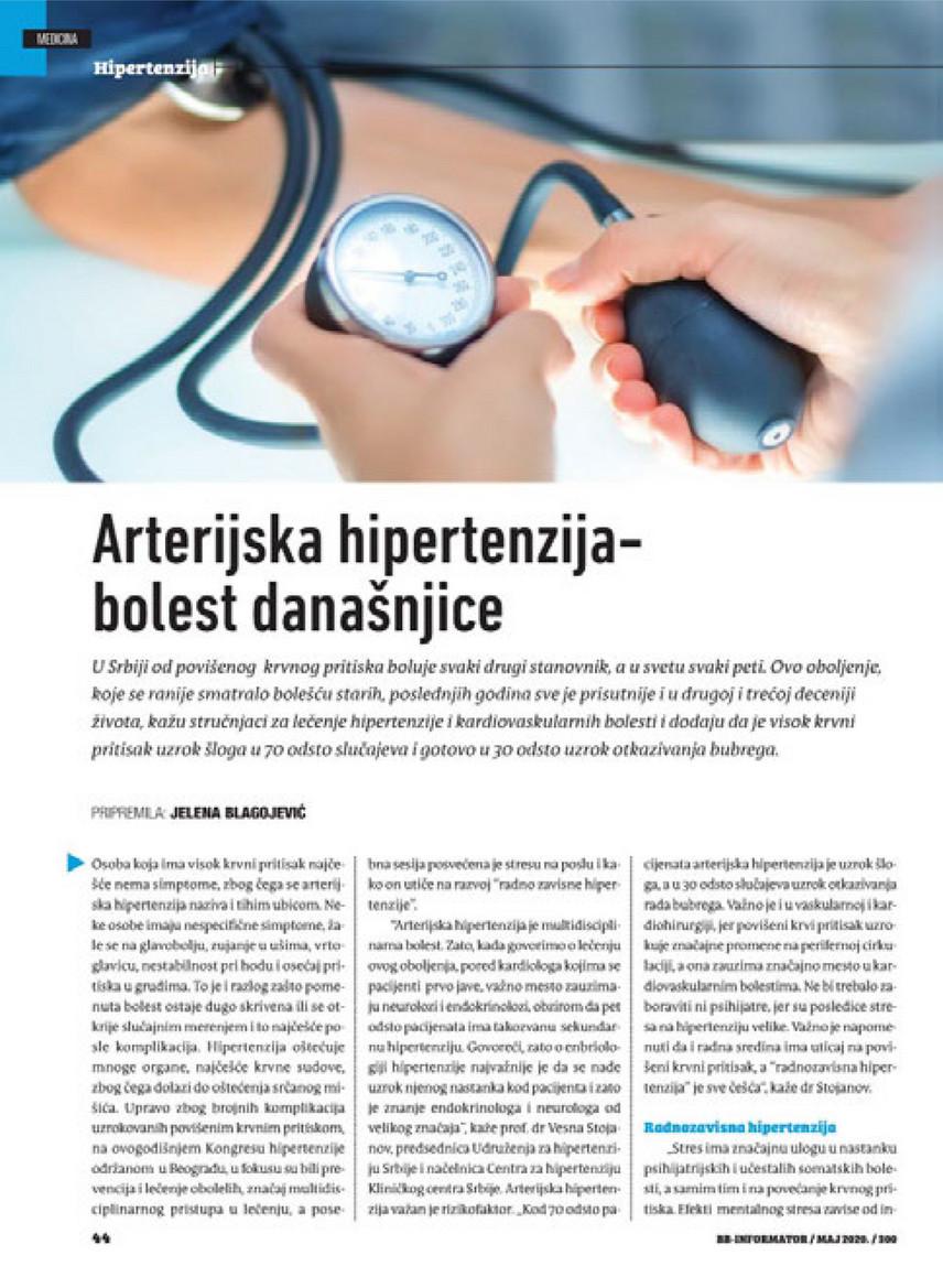 hipertenzija su ARVI