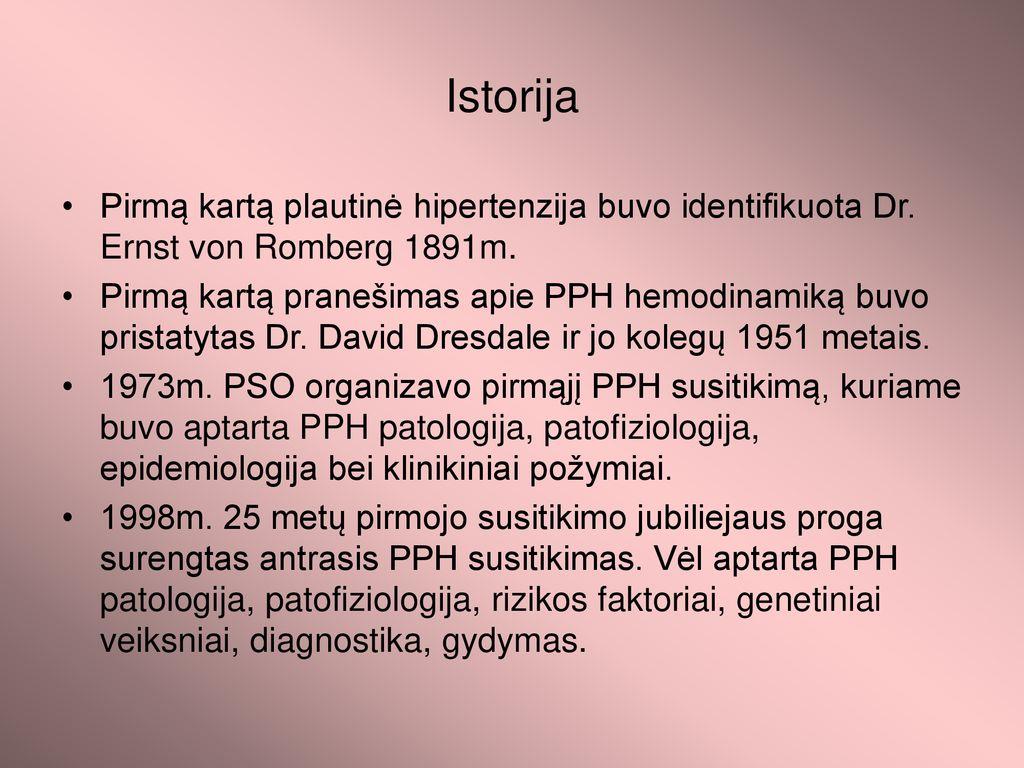 hipertenzijos ligos istorija)