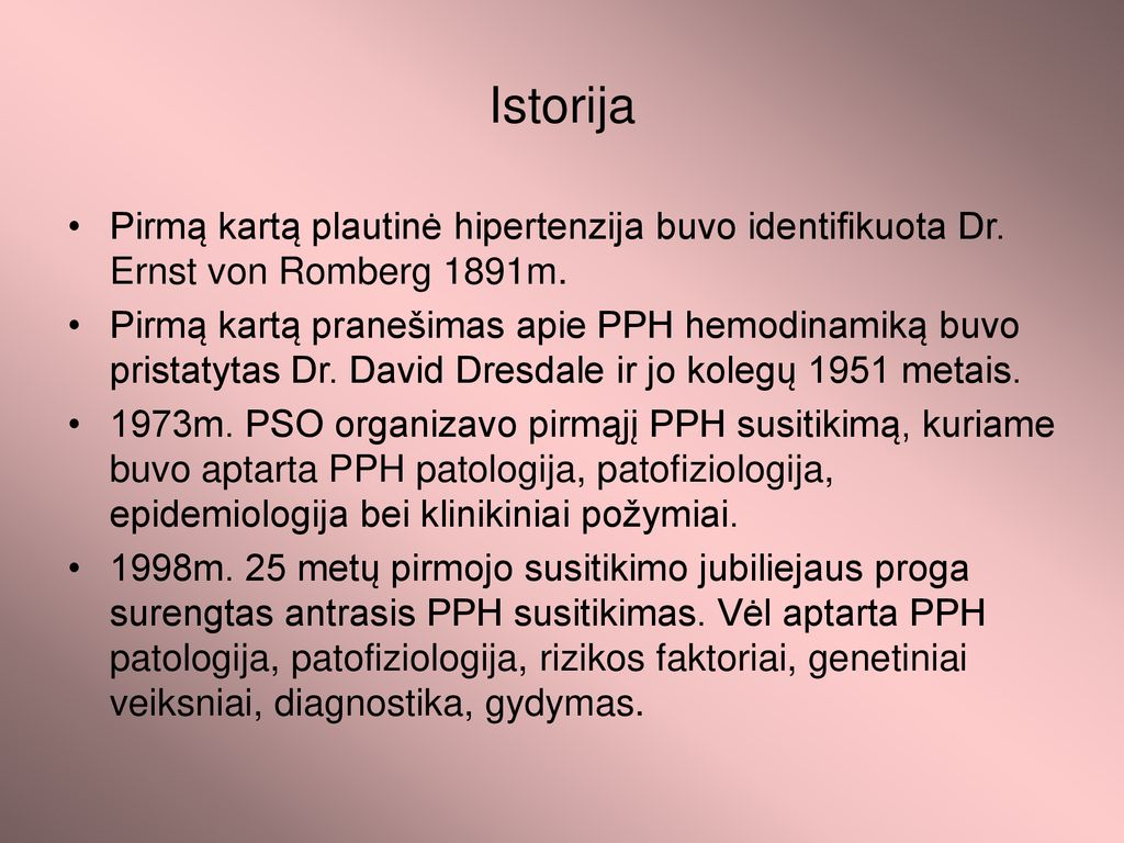 hipertenzijos pranešimai)