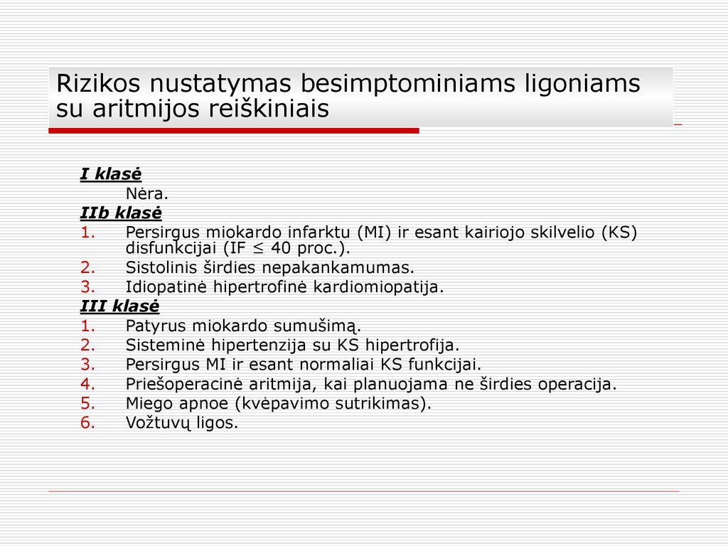 aritmijos sindromo hipertenzija)