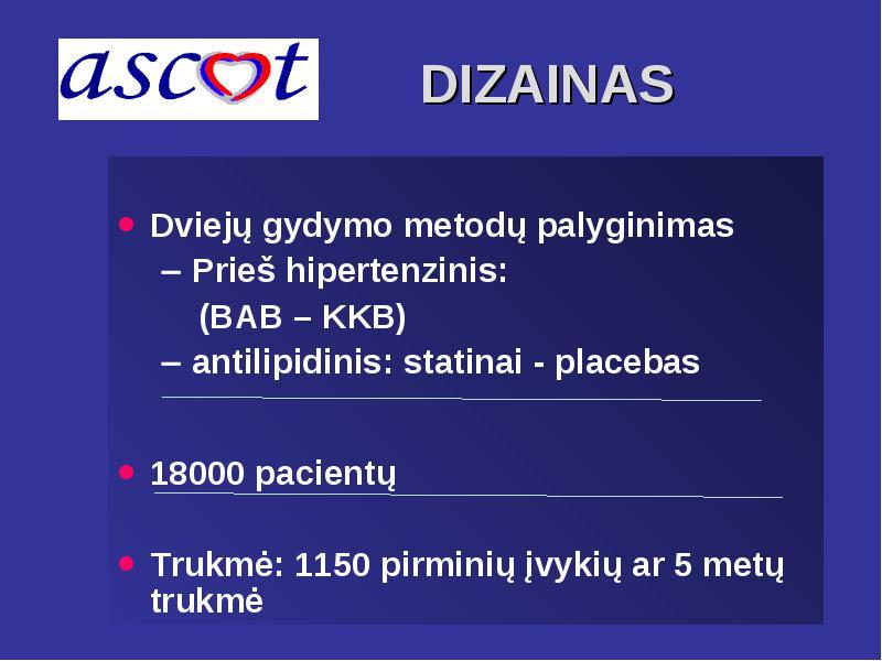 hipertenzijos be vaistų gydymo metodas)