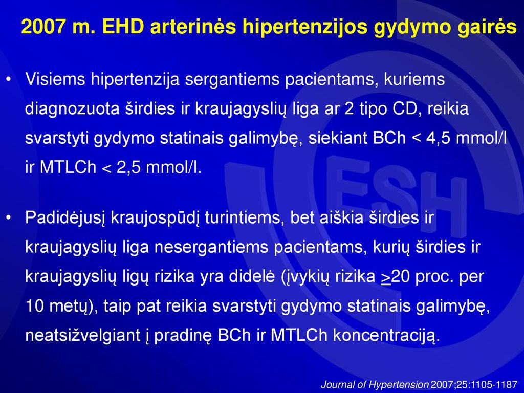 ko reikia hipertenzijai gydyti)
