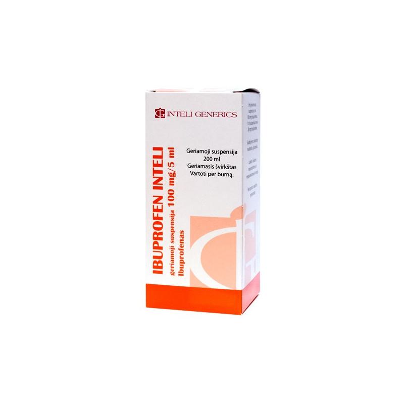 IBUPROFEN INTELI, mg/5 ml, geriamoji suspensija, ml | Gintarinė