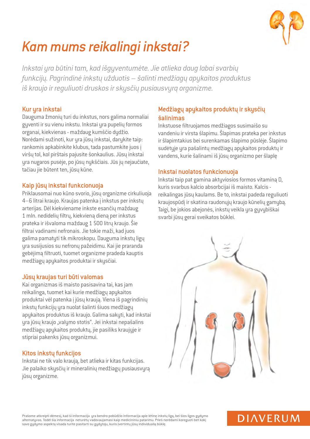 ką daryti su inkstų hipertenzija