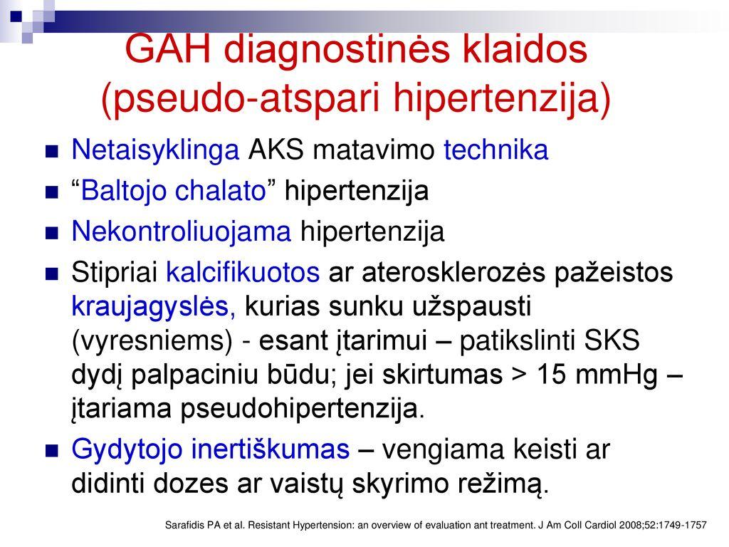 hipertenzija gydyti namuose