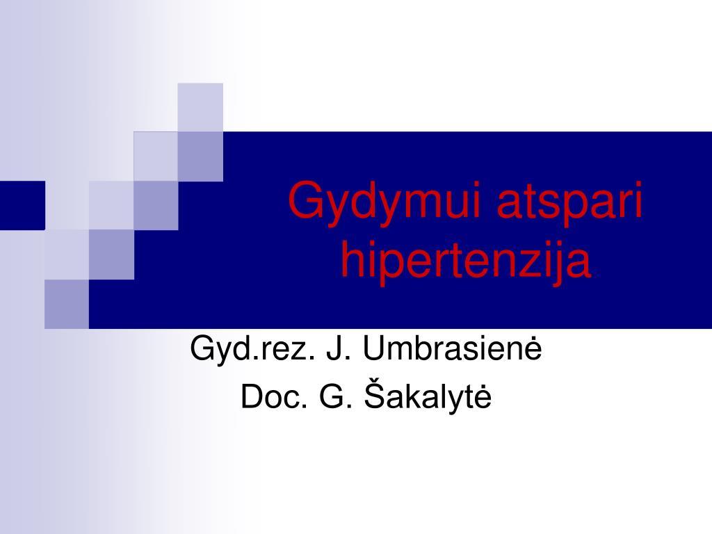 hipertenzija skirtingo amžiaus