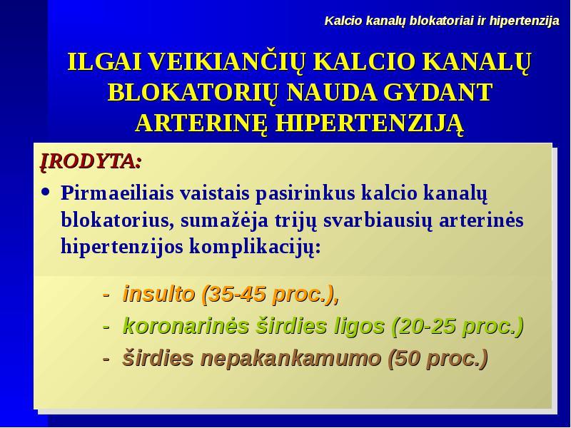 hipertenzijos insulto komplikacija