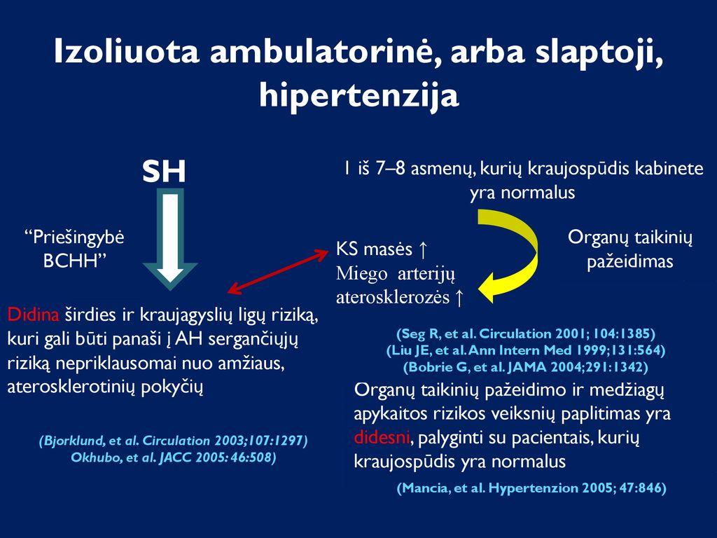 hipertenzija 70 metų amžiaus