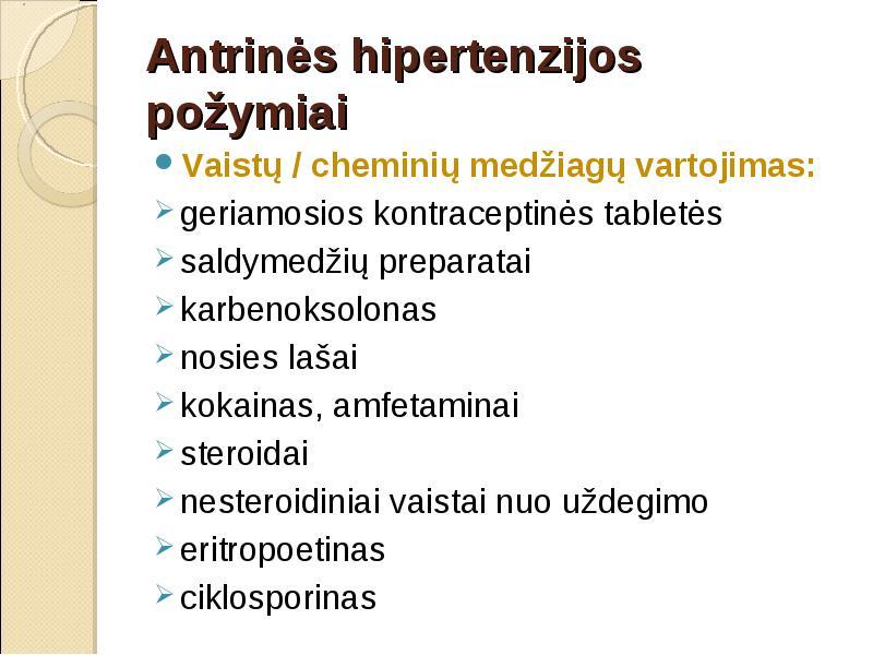 ar vartoti vaistus nuo hipertenzijos