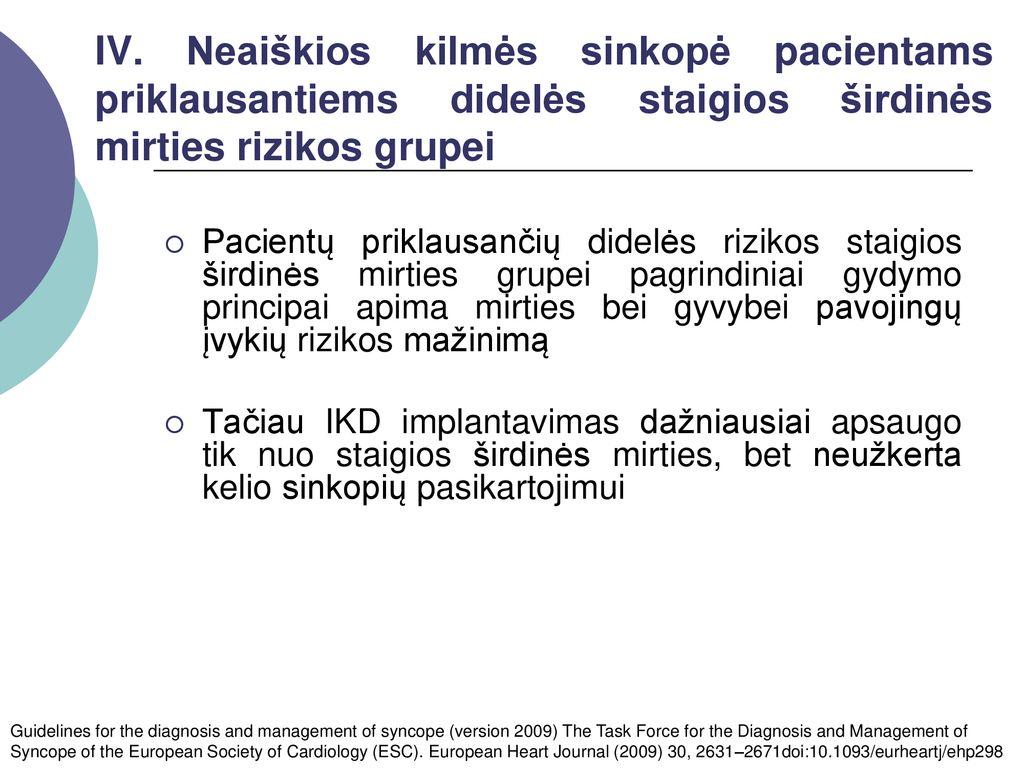 pagrindiniai hipertenzijos gydymo principai