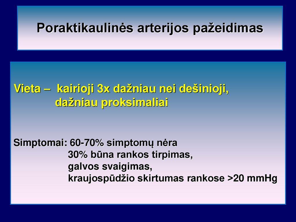 hipertenzija ir rankų tirpimas)