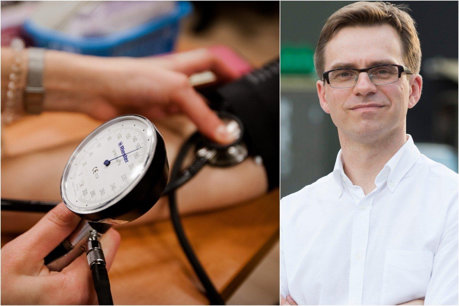 kaip kraujospūdis keičiasi esant hipertenzijai