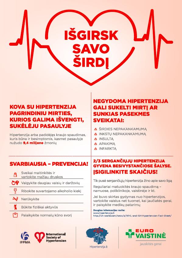 hipertenzijos tikslai