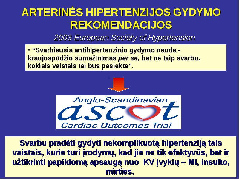hipertenzijos be vaistų gydymo metodas