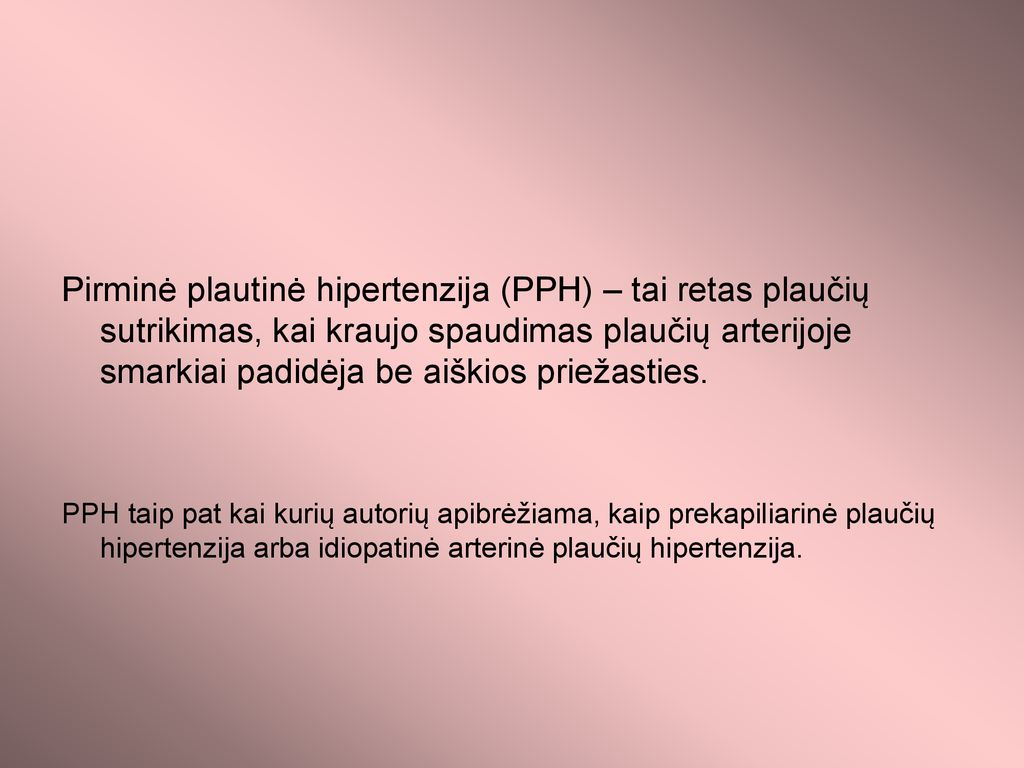 kaip apibrėžiama hipertenzija)