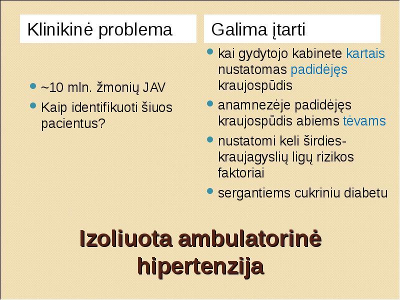 hipertenzijos židiniai