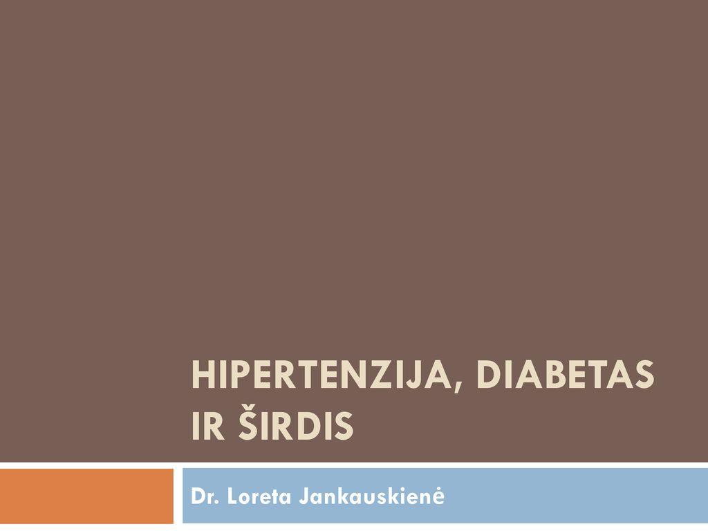 skiria hipertenzija ir diabetas