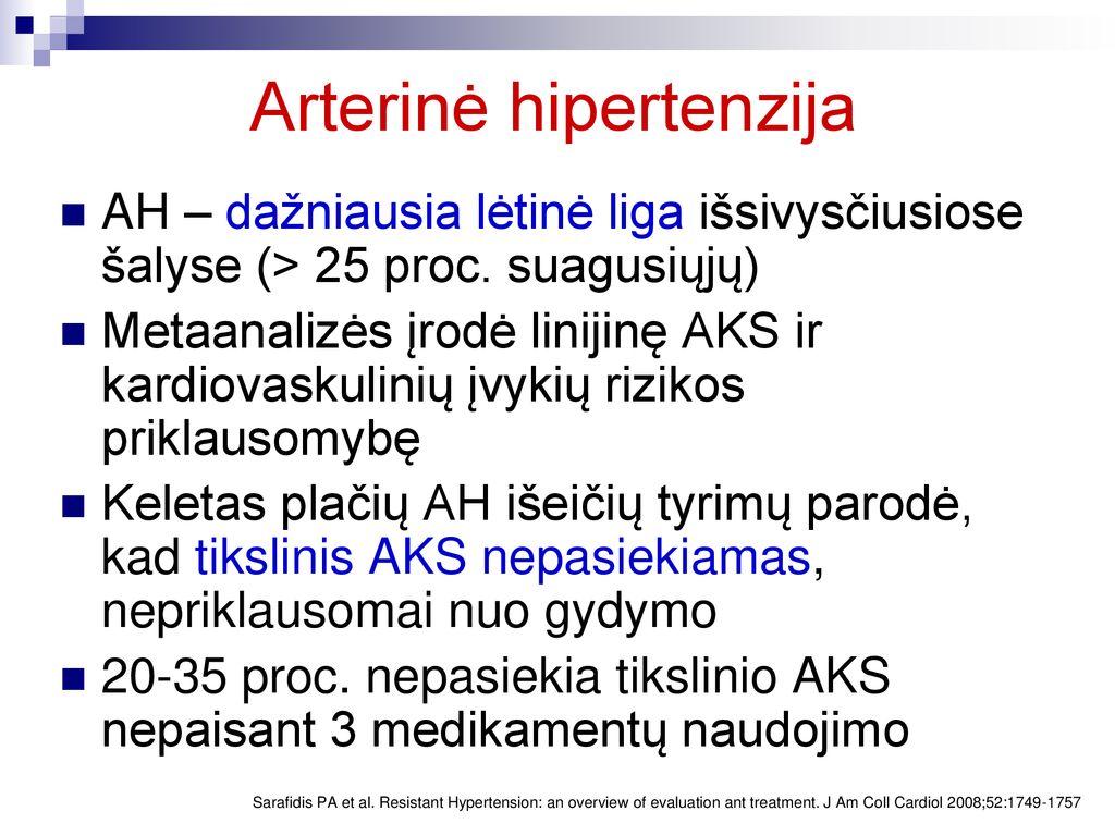 hipertenzija ir gydymo režimai)
