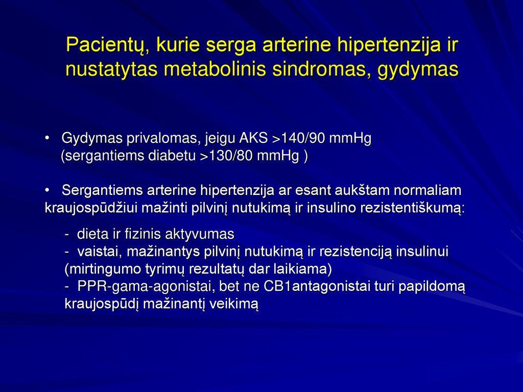 hipertenzija gydant diabetą)