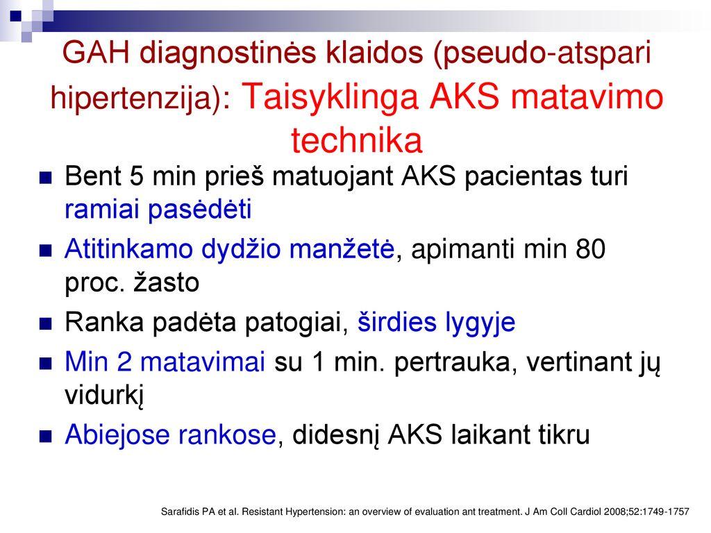 hipertenzijos laikymasis