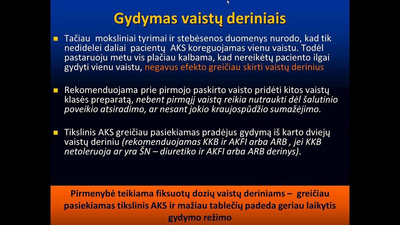 vaistas hipertenzija)