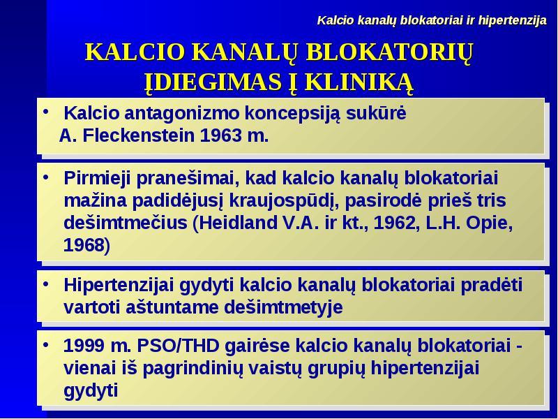 hipertenzija ir kalcis)