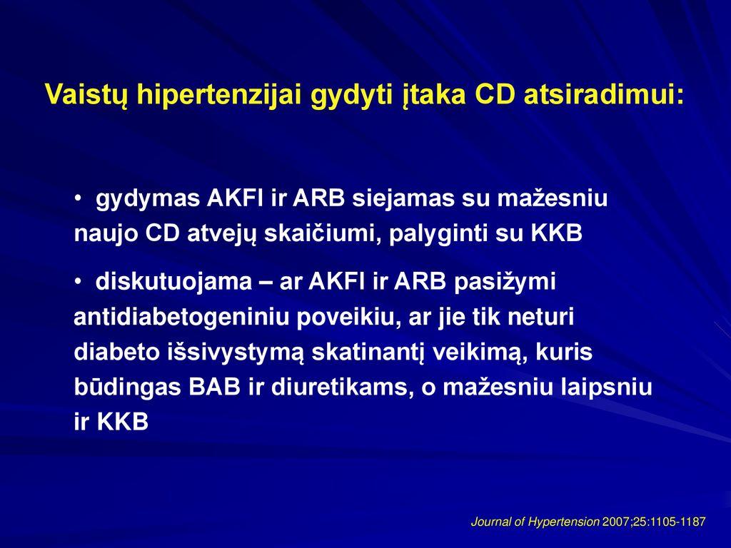hipertenzija vartojant vaistus nuo diabeto