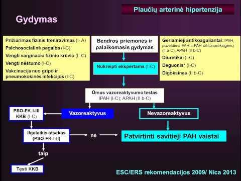 plaučių hipertenzijos rekomendacijos