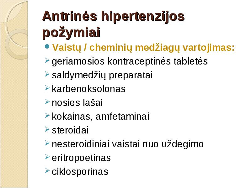 nosies hipertenzija