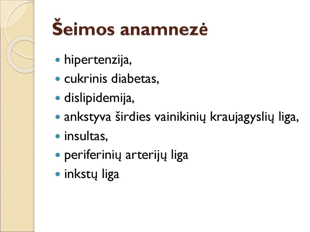 dietos hipertenzija ir vainikinių arterijų liga