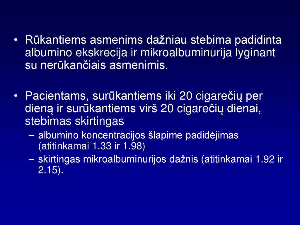 mikroalbuminurija ir hipertenzija ar įmanoma pakeisti klimatą hipertenzija