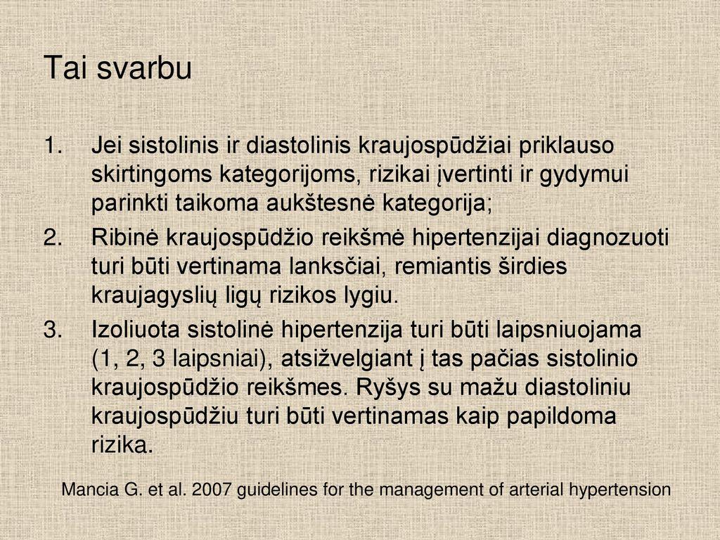 kas yra hipertenzijos paskaitos