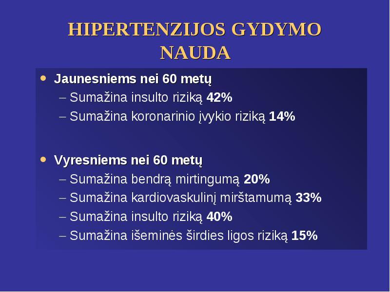 hipertenzija insulto metu)