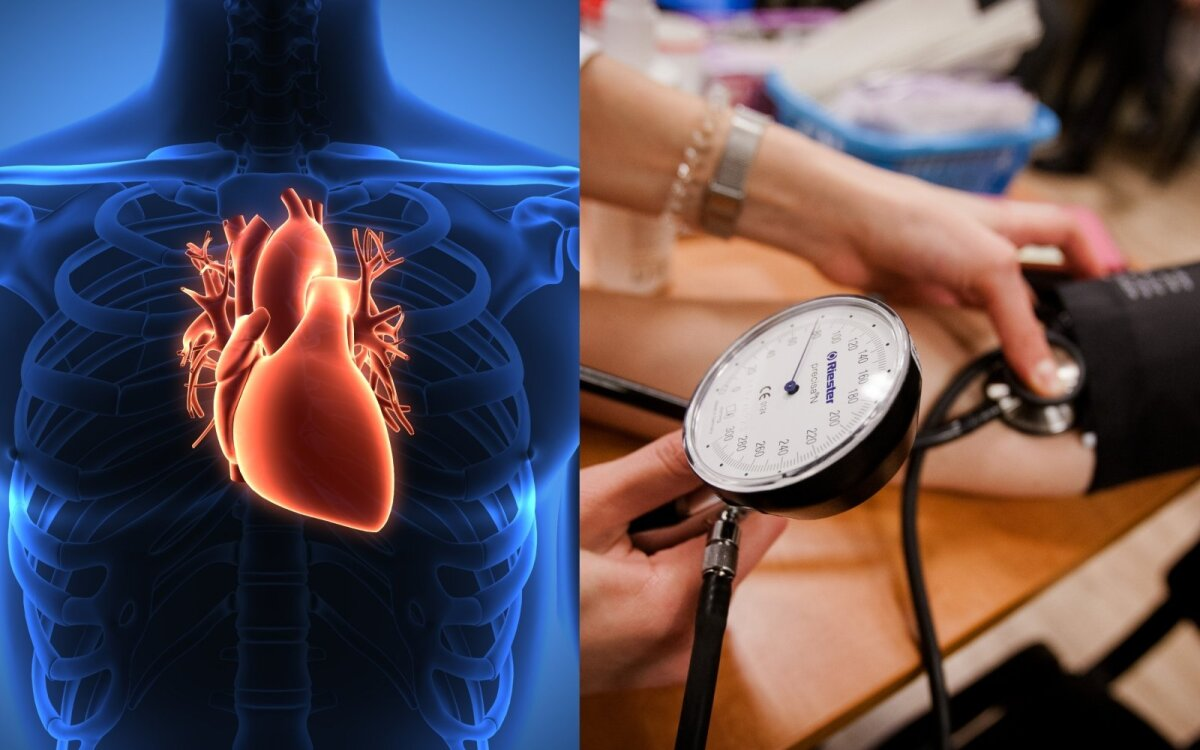 į raumenis dėl hipertenzijos