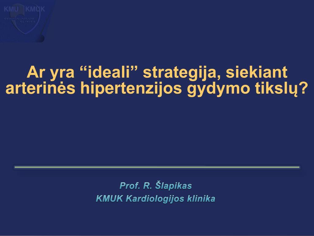 klinikos, kuriose gydoma hipertenzija)