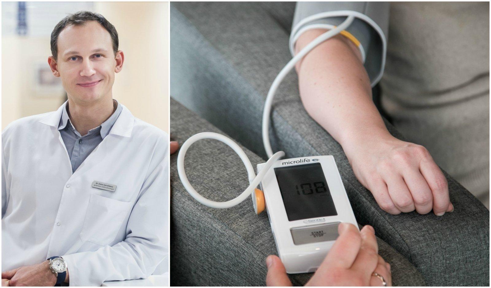 kuo hipertenzijos stadijos skiriasi nuo laipsnio