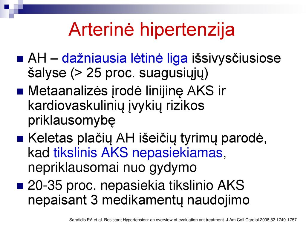 kompleksinis hipertenzijos gydymas