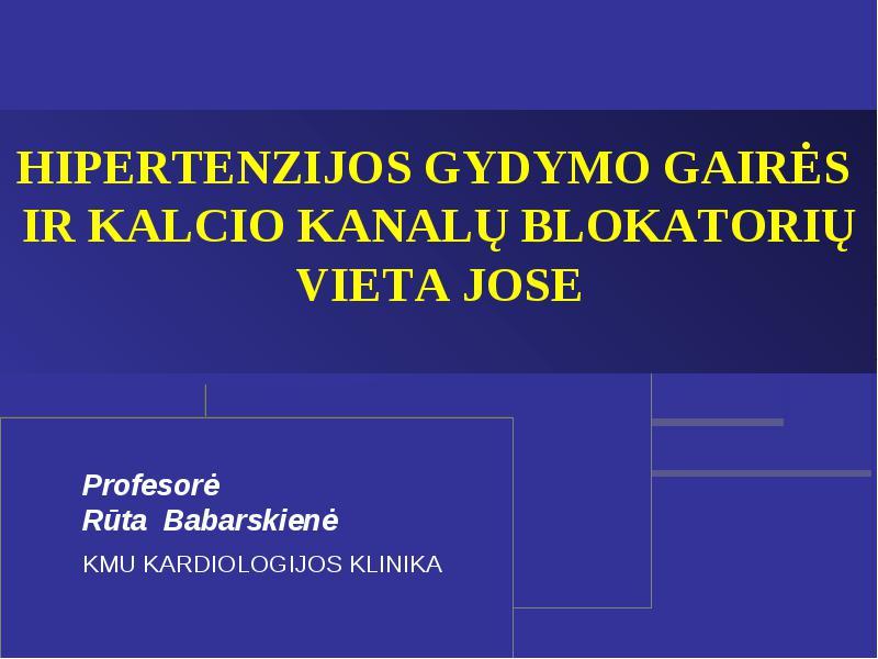 miokardo hipertenzijos gydymas)